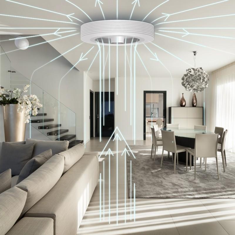 Ventilateur de plafond sans pales blanc avec LED | Exhale Fans