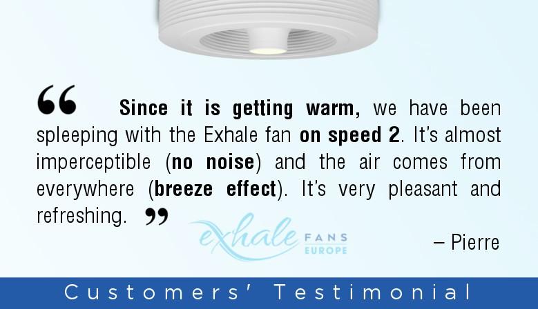 Ventilador Exhale Branco Com Led 3k