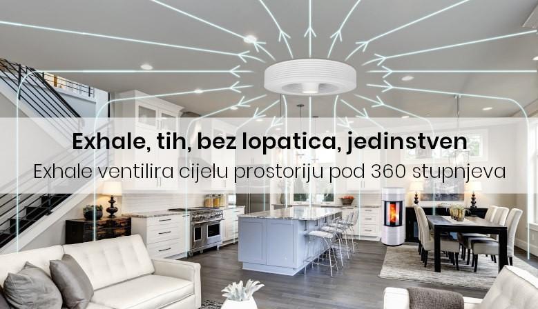 Exhale ventilira cijelu prostoriju pod 360 stupnjeva