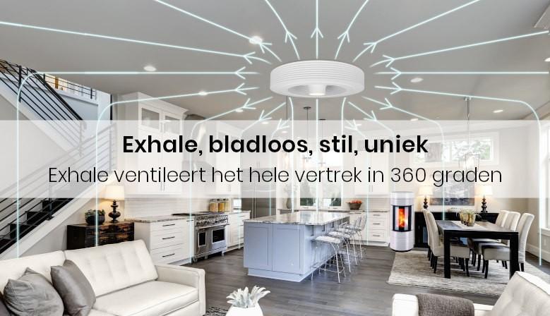 Exhale ventileert het hele vertrek in 360 graden