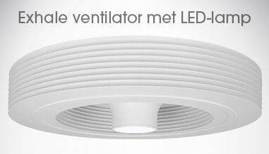 Witte Exhale ventilator (met 3K LED's)
