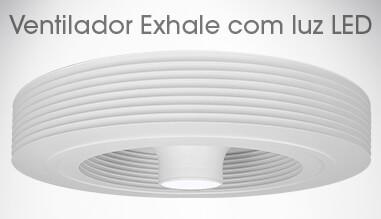 Ventilador Exhale Branco Com luz Led 3k