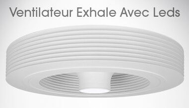 ventilateur plafond sans pales ventilateur exhale fans europe exhale europe shop. Black Bedroom Furniture Sets. Home Design Ideas